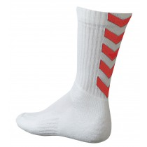 Chaussettes Authentic Indoor blanc/rouge
