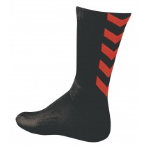 Chaussettes Authentic Indoor noir/rouge